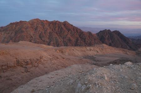 eilat: Sunset near Eilat, Yehoash mountain
