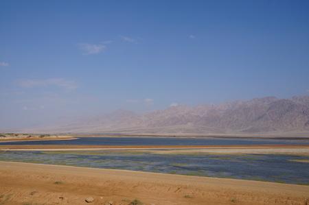 eilat: Salt lake near Eilat, Israel Stock Photo
