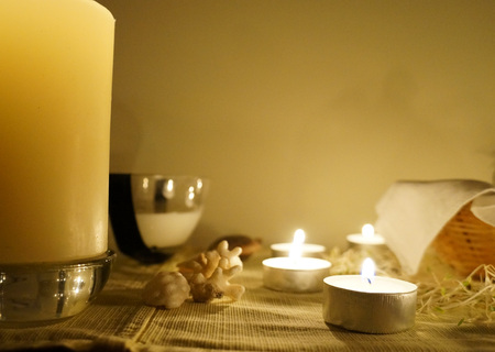 witchery: Candles on altar