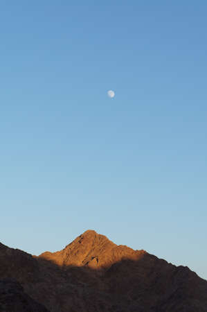 Evening sky upon mountains near Eilat, Israel photo