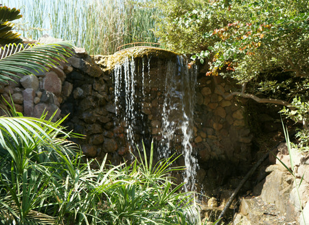 Small waterfall in the park photo