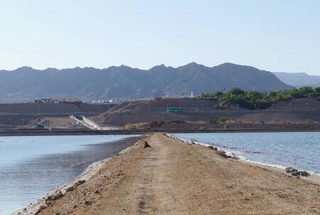 desalination: Artificial ponds near Eilat Israel Stock Photo