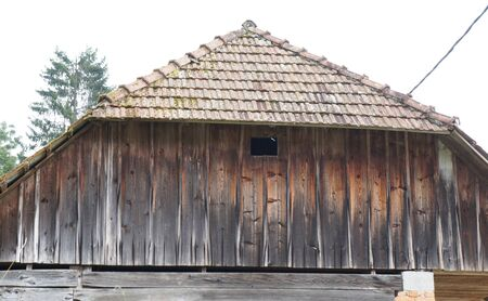 Old wooden rural house, Slovenia photo