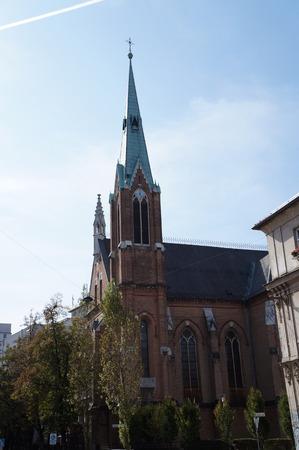 ljubljana: Old gothic church in Ljubljana, Slovenia