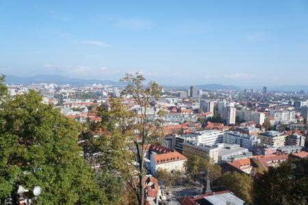 Cityscape of capital city of Slovenia Ljubljana