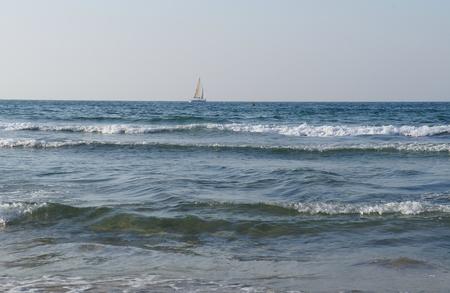 Mediterranean sea in sunny afternoon near Tel-Aviv photo