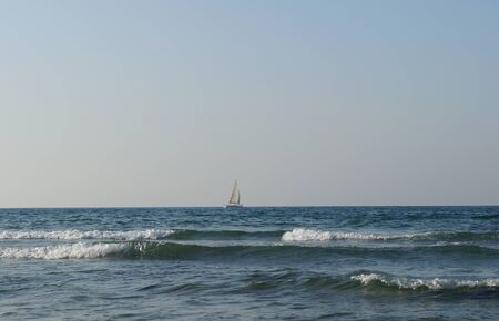 Mediterranean sea in sunny afternoon near Tel-Aviv photo
