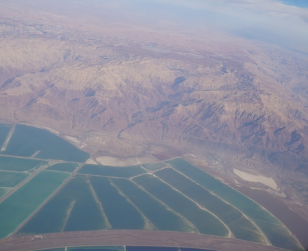 waterworks: Aerial view of the waterworks on Dead Sea, Israel