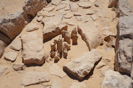 archeological: The temple of leopards, well known archeological site in Arava, South Israel