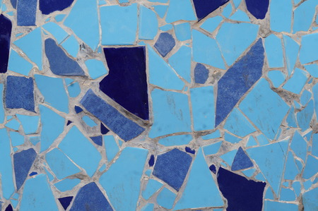 Blue tiles mosaic background photo