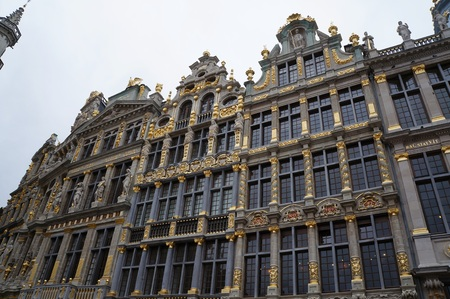 central square: Central square of Brussels, Belgium. Beautiful buildings