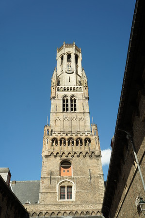 gothic architecture: Gothic architecture, beautiful buildings in historical town of Bruges, Belgium