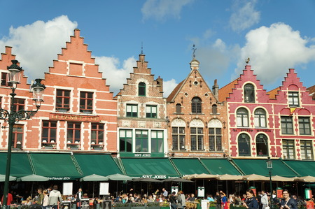 central square: Central square of the old town  in Bruges, Belgium Editorial
