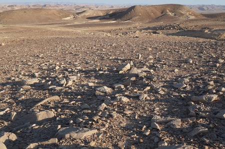 nahal: Unreally spherical rocks in Nahal Keidar reserve, South Israel, sunset time, twilight