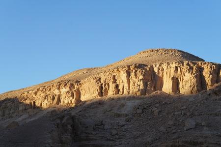 Ein Netafim, beautiful place near Eilat, evening twilight