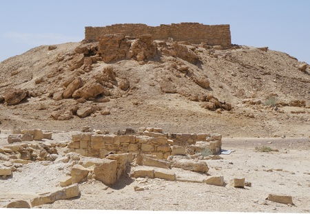 Moa fortress, ancient ruined building in South Israel Stock Photo