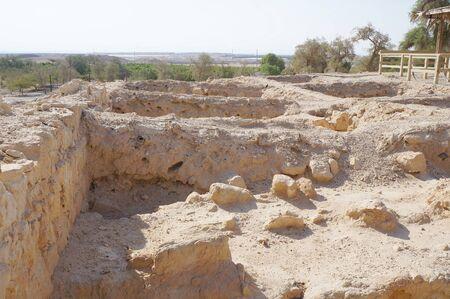 Biblical Tamar park, Arava, Israel. Ruins of Greek-Roman period houses Stock Photo