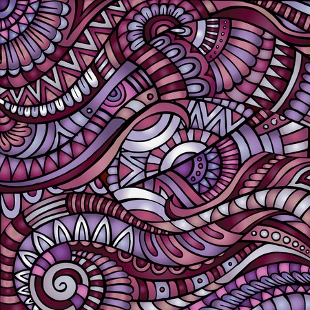 Decorative purple ornamental ethnic vector pattern background Vector