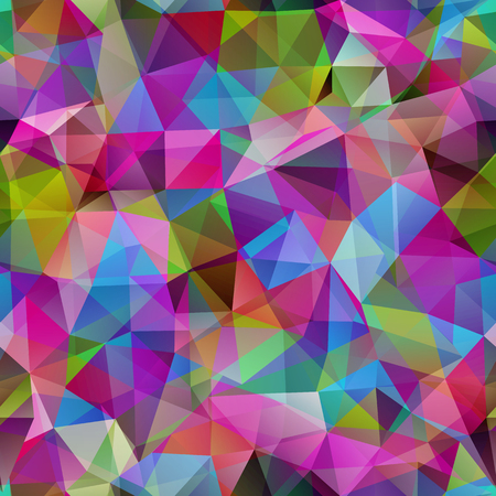 Triangle seamless pattern of geometric shapes. Colorful mosaic banner.
