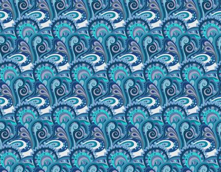 batik motif: Seamless paisley pattern for design gift, patterns fabric, wallpaper, web sites Illustration
