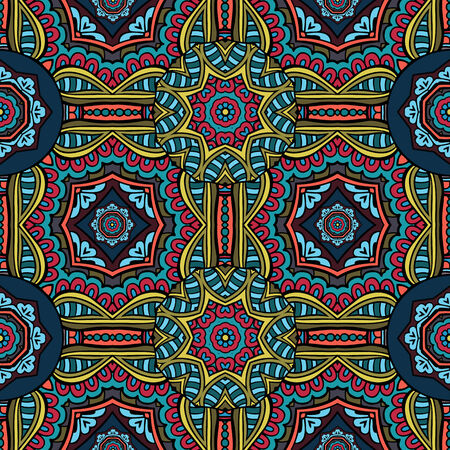 Abstract vector tribal ethnic background seamless pattern Vector