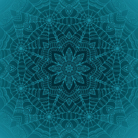 Spider web vector ornamental seamless pattern background Vector