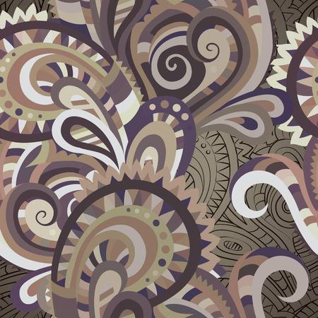 batik pattern: Decorative floral paisley ornamental vector seamless pattern Illustration