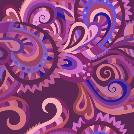 Decorative floral paisley ornamental vector seamless pattern Vector