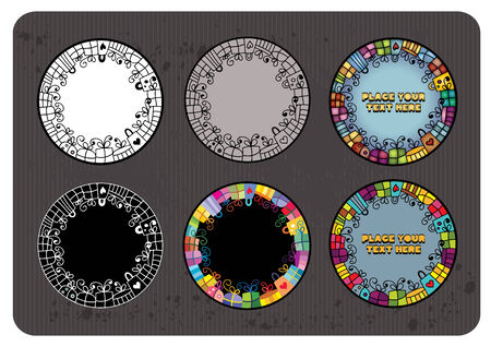 Set of abstract gifts. vector round banners Vector