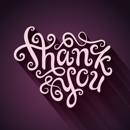 Thank You hand lettering - handmade calligraphy, vector Vector