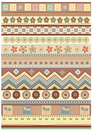 stripe pattern: Decorativo della carta da parati della banda vettoriale. modificabile illustrazione Vettoriali