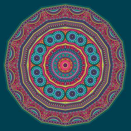 Circle abstract tribal ethnic background. Vector illustration Vector