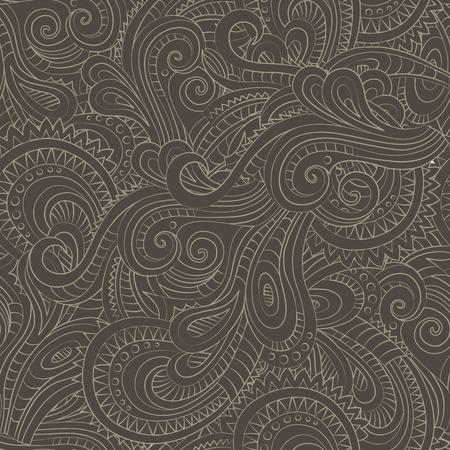 batik motif: Abstract vector decorative nature ornamental seamless pattern Stock Photo