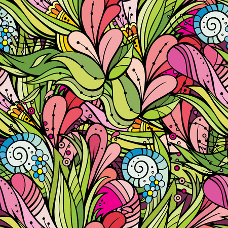 batik pattern: Beautiful abstract decorative floral ornamental seamless pattern Stock Photo