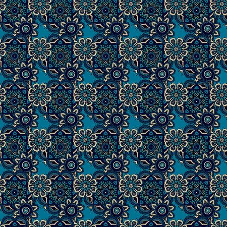 batik: Belle abstrait décoratif floral seamless pattern ornemental