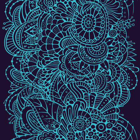 Ornate floral seamless pattern, endless pattern with flowers. photo