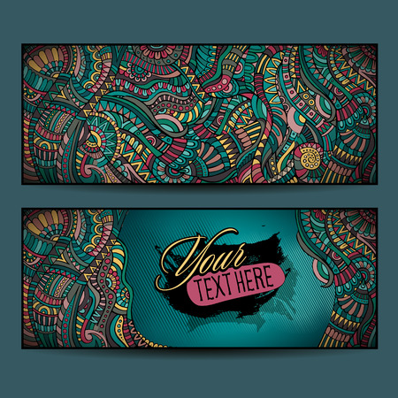 layout design template: Abstract vector decorative ethnic ornamental backgrounds. Series of image Template frame design for card. Stock Photo