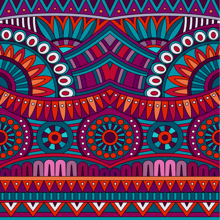 Abstract vector tribal ethnic background seamless pattern photo