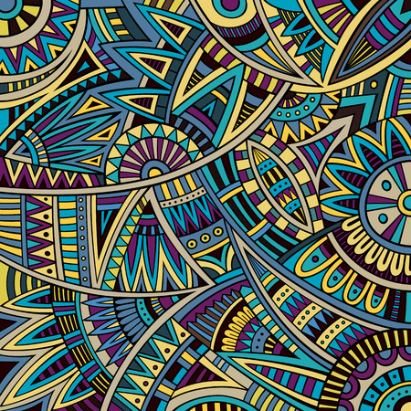 Abstract vector hippie tribal ethnic background pattern photo
