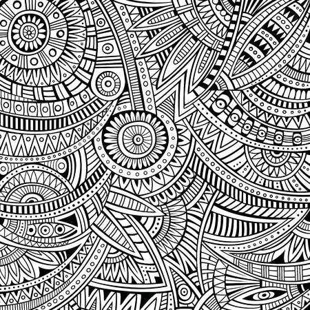 Abstract vector contour tribal ethnic background pattern photo