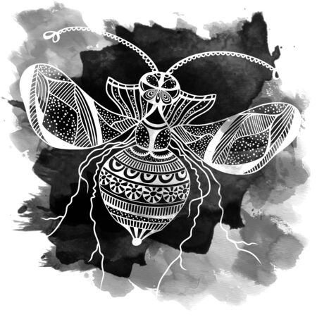 fryer: Vector decorative insect butterfly art vector background