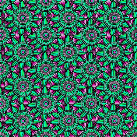 Abstract vector floral ethnic background seamless pattern photo