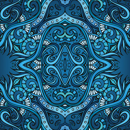 ethno: Geometric vector various strips motifs in different color. Seamless pattern