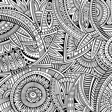 batik: Abstract vector tribal ethnic background seamless pattern
