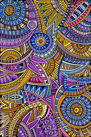 arte africano: Extracto tribal vector patrón antecedentes étnicos decorativos Vectores