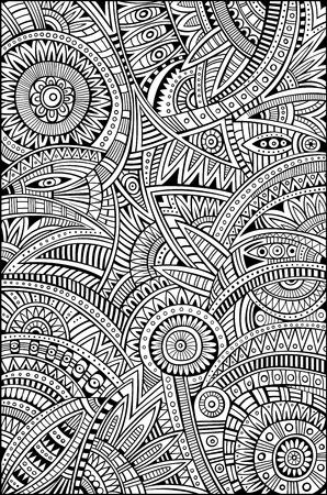 抽象的なベクトルの部族の装飾的な民族的背景パターン