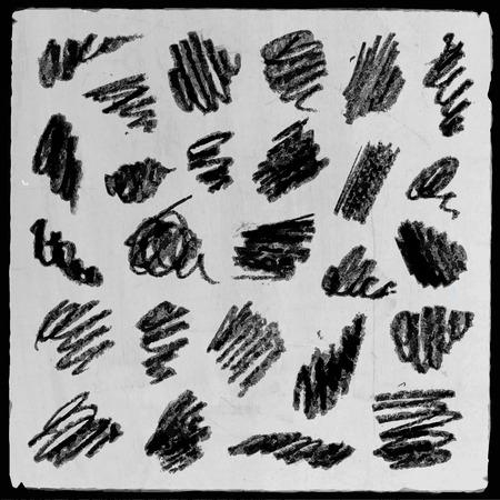 fondo cuadritos: Vector mano abstracto dibujado a l�piz cuadrados fondo grunge establecen Vectores