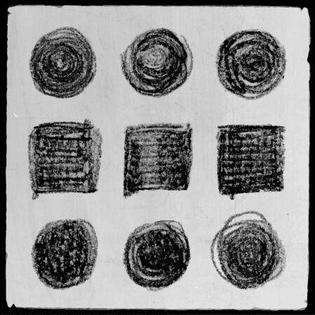 fondo cuadritos: Resumen de vectores dibujados a mano grunge antecedentes cuadrados l�piz establecidos Vectores