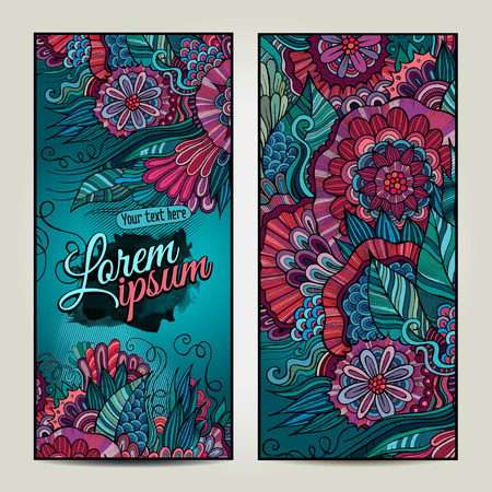 fayer: Abstract vector decorative floral backgrounds. Template design for card. Series of image. Illustration
