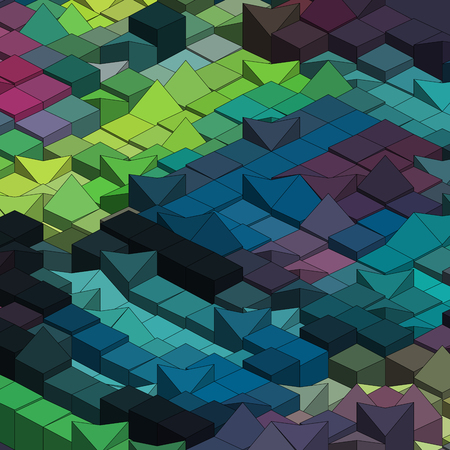 Abstract decorative geometric colorful vector cube background Vector